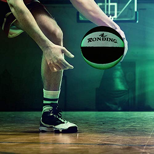 Purchase JIJIKOKO Basketball Glow in The Dark Nightlight Basketball Battery-Free Glowing Baketball W...