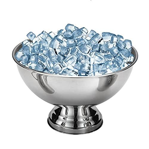 HUMINGG Rostfritt stål is kuber skål metall bar öl fat champagne vin stor is hink stekt glass skål bar tillbehör