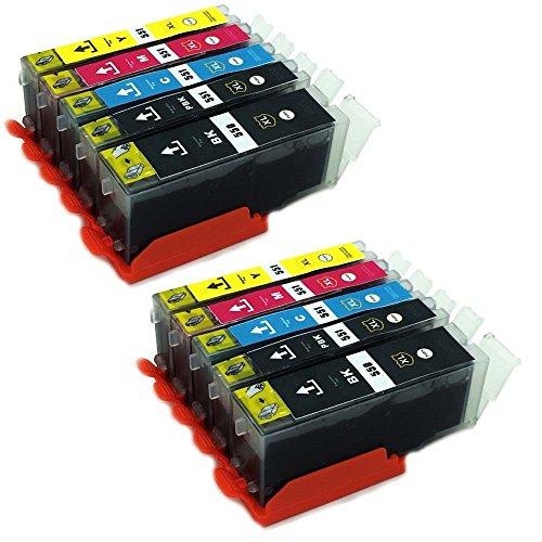 ESMOnline 10 kompatible XL Druckerpatronen (5 Farben) Canon Pixma MG MX iX (PGI-550/CLI-551)