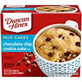 Duncan Hines Mug Cakes Chocolate Chip Cookie Cake Mix (4 Count of 2.5 Oz each), 10.1 Ounce