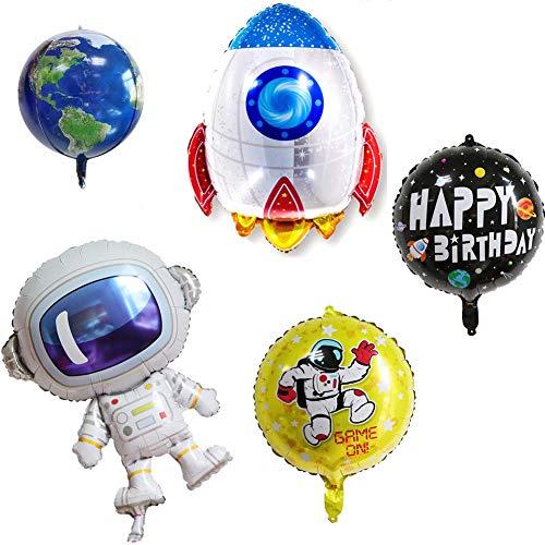 ED-Lumos 5Pcs Riesen Space Astronaut Wiederverwendbare Heliumballons für Geburtstagsfeier Dekoration Kinder Geschenk