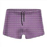 XCNGG Calzoncillos Tipo bóxer de Secado rápido Morado con Cierre a Cuadros para Hombre, Pantalones Cortos, bañadores, Traje de baño-XL