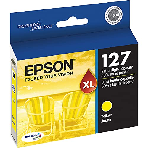 EPSON T127 DURABrite Ultra Ink Standard Capacity Yellow Cartridge (T127420) for select Epson Stylus and WorkForce Printers