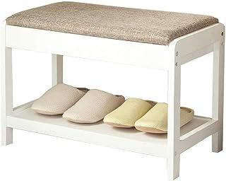JJZXT Banc de Chaussures industrielles, 1-Tier Shoe Rack, Stockage Organisateur avec siège, Simple Rack de Chaussures en B...