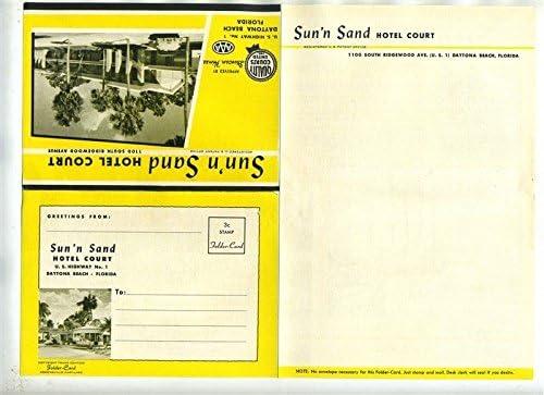 List price Sun'n Sand Hotel Court Brochure Mailer Daytona 1 Special price Highway US Beac