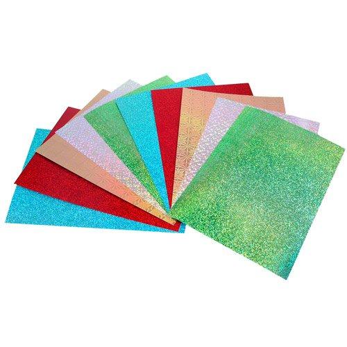 CI 30x 20x 0,5cm A4Holografische Karten, Mehrfarbig