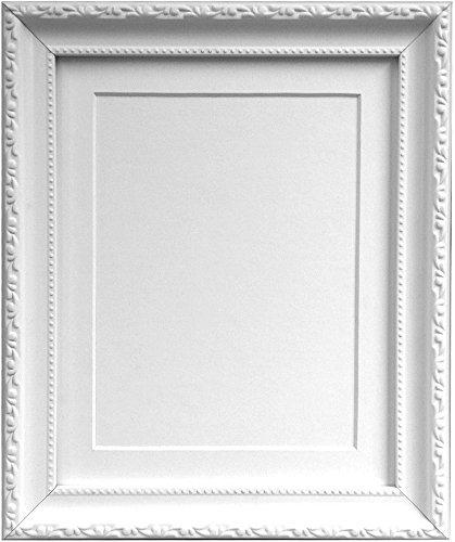 AP - 3025 Bilderrahmen mit schwarzem, weißem, elfenbeinfarbenem Passepartout, rosa oder hellblau, grau, plastik, White Mount, 14
