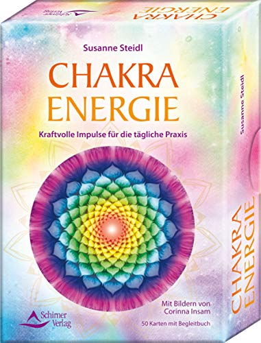 SET - Chakra-Energie: Kraftvolle Impulse für die tägliche Praxis - 50 Karten mit Begleitbuch