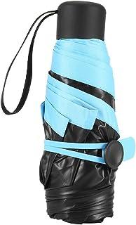 Mini Pocket Umbrella, Foldable Portable Foldable Travel Umbrella Portable rain Light Umbrella Reliable Protection(Blue)