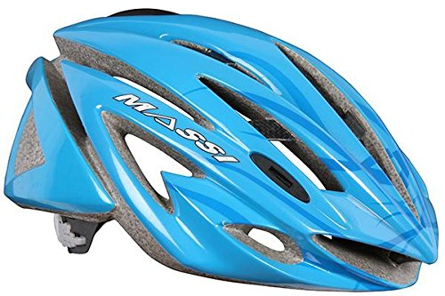 Massi Carbon - Casco para Bicicleta Unisex, Color Azul, Talla L