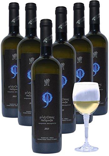 Mesimvria Wines griechischer Weißwein | Malagousia | trocken | Jahrgang 2016 | 6x 750 ml