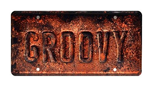Ash vs Evil Dead   Groovy   Metal Stamped License Plate
