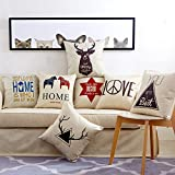 SCBED Estilo nórdico Ciervos sofá Moderno Europeo Coche Americano cojín Almohada Almohadas Almohada Core Oficina Creativa Parte,45x45cm (Core),Random