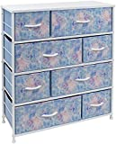 Sorbus Dresser with 8 Drawers - Bedside Furniture & Night Stand End Table Dresser for Home, Bedroom Accessories, Office, College Dorm, Steel Frame, Wood Top (Pastel Tye-die)