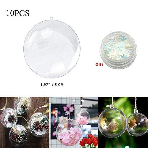 divisible 5 boules en plastique Ø 8 cm Transparent Acrylique Boule Sphère en Plastique