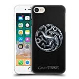 Official HBO Game of Thrones Silver Targaryen Embossed Sigils Hard Back Case Compatible for Apple iPhone 7 / iPhone 8 / iPhone SE 2020