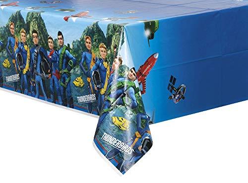 Thunderbirds Party Accessoires Plastic tafelkleed. Eén maat blauw