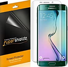 (2 Pack) Supershieldz Designed for Samsung Galaxy (S6 Edge) Screen Protector, (Full Screen Coverage) (3D Curved PET) High Definition Clear Shield