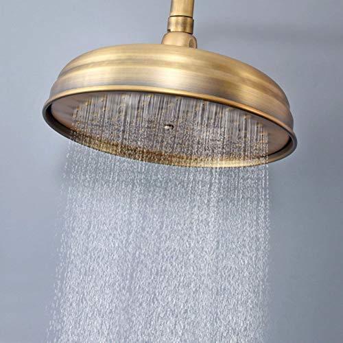 Alcachofa De Ducha De Mano Accesorio de baño 8 pulgadas de latón antiguo Ahorro de agua Forma redonda Top Rain Baño apropiado Ahorro de agua a alta presión Fácil de limpiar