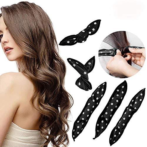 Lockenwickler Rollen, 30 Stück Schwamm Schaum Haar Lockenwickler, MS.DEAR Nachtschlaf Magic Soft Lockenwickler Haar-Styling-Tools für DIY (Schwarz)