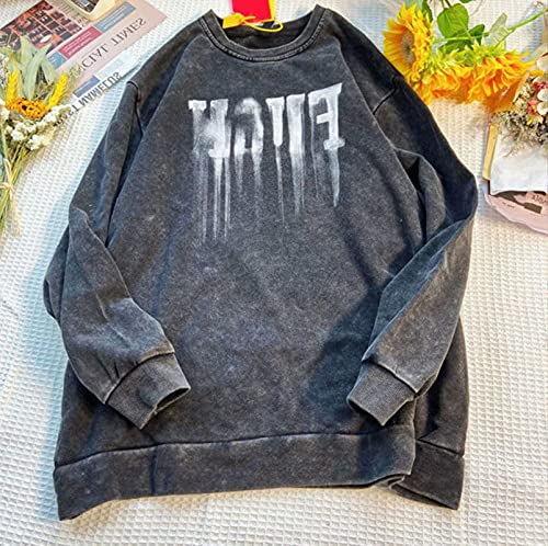 ZYuLi Top Impreso Top Retro Retro 100% algodón Top Harajuku Cuello Redondo Suéter 2021 Calle Hip Hop Camiseta Masculina