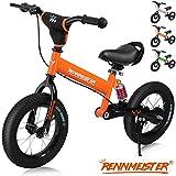 Deuba Draisienne pour Enfants Orange Rennmeister vélo sans pédale Suspension Max 50kg Freins Tambour Rembourrage Anti-Choc Selle Cyclisme