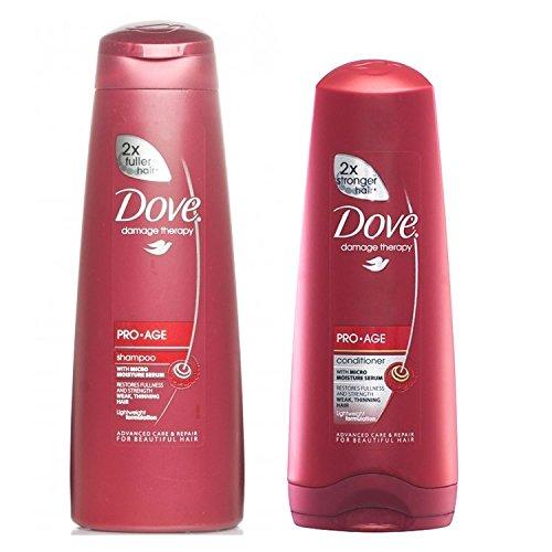 Dove Pro Age Hair Therapy - Shampoo (250 ml) & Conditioner (200 ml) by Dove Pro-Age
