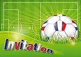 Edition Colibri 10960 FR - Confezione da 12 biglietti di invito da calcio in francese, per compleanno di bambini o per una partita di calcio