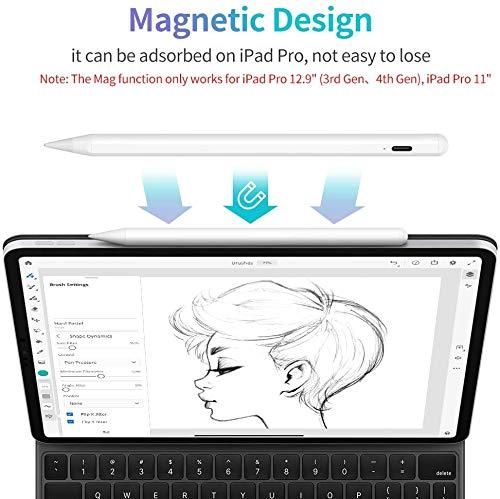 JAMJAKE Stylus Stift für iPad mit Palm Rejection, Active Pencil Kompatibel mit (2018-2020) Apple iPad Pro/iPad/iPad Mini/iPad Air…