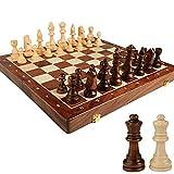 Lhl 15'X15 Conjunto de ajedrez de Madera de Haya Grande y Elegante Adulto, Tablero, Staunton Piezas, 2 Reinas adicionales, Regalos Infantiles Chess 17'x17 Tablero de Damas