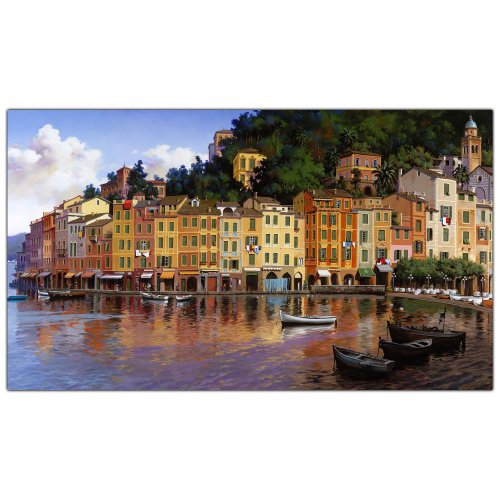 Portofino by Hava, 16x32-Inch Canvas Wall Art