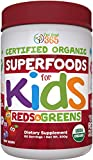 Kids Superfood Reds and Greens Juice Powder by Feel Great 365 (60 Servings), Made with Real Fruits &...
