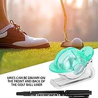 ゴルフボールライナー、描画ツール、ゴルファーのための3色のプラスチック(green)