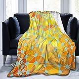 Manta ultra suave de micropolar Manta redonda naranja triangular Manta cálida Manta de cama de microfibra ligera para sofá cama - Manta de cama premium para todas las estaciones (60 X 50 pulgadas)