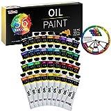 U.S. Art Supply Professional 36 Color Set of Art Oil Paint in Large 18ml Tubes - Rich Vivid Colors for Artists, Students, Beginners - Canvas Portrait Paintings - Bonus Color Mixing Wheel