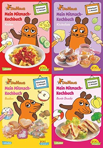 Pixi kreativ 4er-Set 17: Mitmach-Kochbücher mit der Maus (4x1 Exemplar):...