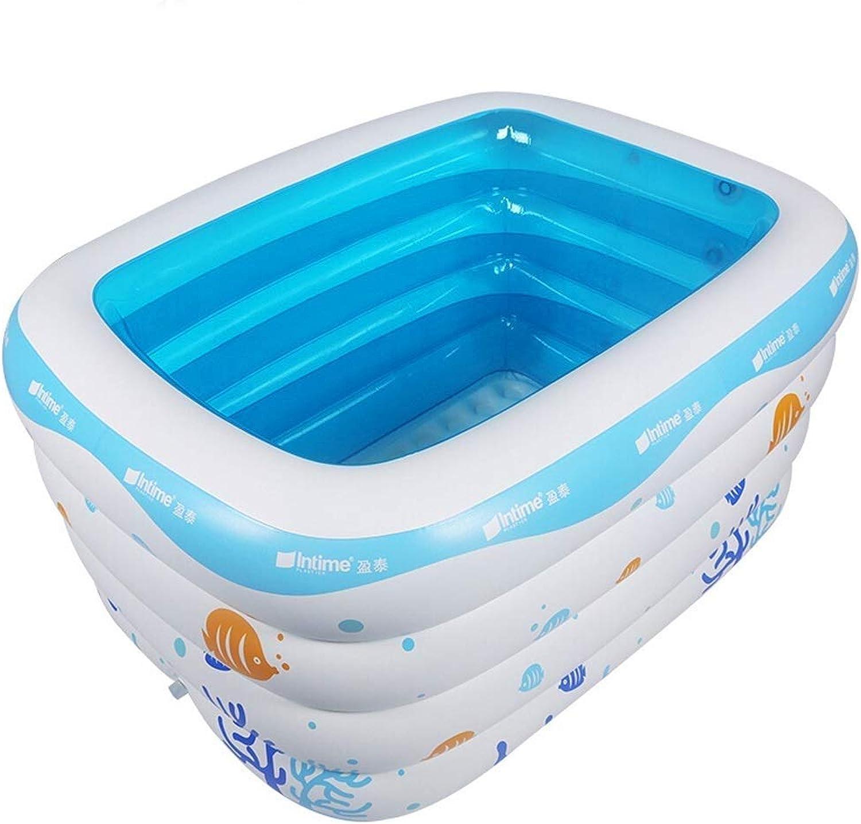 Faltbare Badewanne, Aufblasbares Pool-Kinderbecken-tragbare Innenbadewanne Der Kinder Im Freien, Aufblasbare Weise 2 GAOFENG (Farbe   Weiß, Größe   Electric Pump)