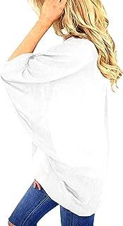 ZEVONDA Womens Casual Chiffon Open Front Batwing Kimono Tops Drape Cardigan Cape