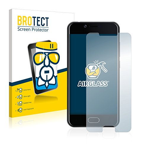 BROTECT Panzerglas Schutzfolie kompatibel mit Doogee Shoot 2 - AirGlass, 9H Festigkeit, Anti-Fingerprint, HD-Clear