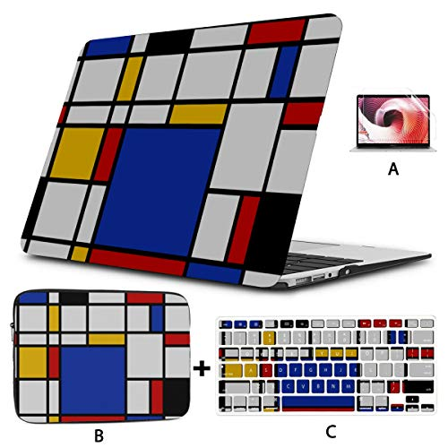 Laptop Covers Creative Fashion Beautiful Square Macbook Air 13 Case Hard Shell Mac Air 11'/13' Pro 13'/15'/16' With Notebook Sleeve Bag For Macbook 2008-2020 Version