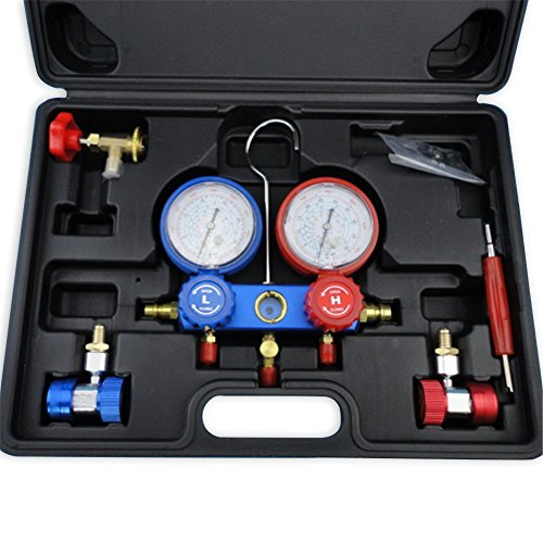 YX MARINE AC Refrigeration Kit A/C Diagnostic Manifold Gauge Set Air for R12 R22 R134a 410a R404z