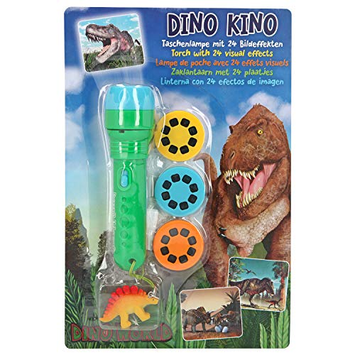 Depesche- Dino World - Linterna (24 Efectos de Fotos), diseño de Dinosaurios, Multicolor (5950)