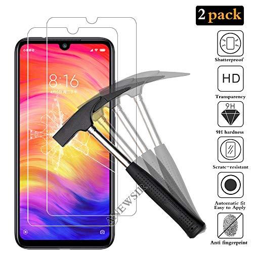 ANEWSIR [2 Stück] Schutzfolie für Xiaomi Redmi Note 7/ Redmi Note 7 Pro, HD Klar Gehärtetem Glas Panzerfolie Bildschirmschutzfolie Folie für Xiaomi Redmi Note 7/Redmi Note 7 Pro.
