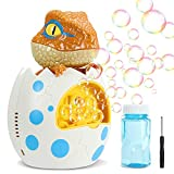 Vimzone Dino Bubble Machine Bubble Blower, Automatic Bubble Maker Toy with Bubble Solution for Toddler and Kids, Party Wedding Baby Shower Indoor/Outdoor Play