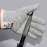 Schnittschutzhandschuhe Schnittschutzhandschuhe aus rostfreiem Stahl mit Metallgitter für die Küche Metzgerei Schnittschutzhandschuhe - grau, L