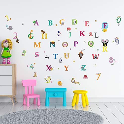 Walplus Alphabet und Zahlen Wand Sticker Wandmalerei Kinderzimmer Büro Heim Dekoration