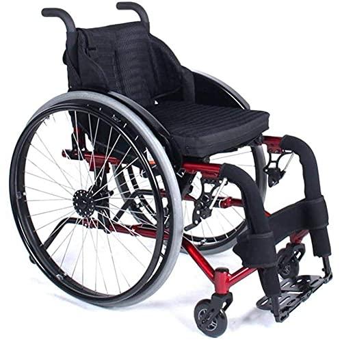 Sillas de Transporte para Deportes y Ocio en Silla de Ruedas para Deportes al Aire Libre Portátiles con barandilla de Altura Ajustable Barandilla