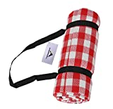 Extra Large Waterproof Picnic Blanket Mat, Oversized Beach Blanket Sand Proof Outdoor Accessory, Great for Camping on Grass, Hiking, Park with Family (Red- 2)