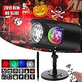 Lampe Projecteur LED Couleur Pour Halloween Noël Extérieur, Bawoo Lampe Projecteur...