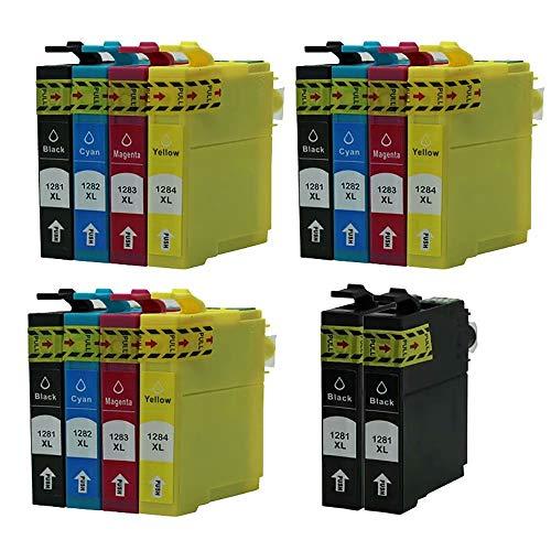ZYL - Cartuchos de tinta compatibles con Epson T1285 Stylus S22 SX125 SX130 SX230 SX235W SX420W SX425W SX430W SX435W SX438W SX440W SX445W SX445WE Office BX305F BX305FW BX305FW Plus (14 unidades + 2 unidades), color negro